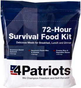 4Patriots Emergency Food Supply - 72-Hour Survival Kit