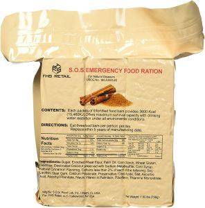 SOS Food Labs SOScin1pk Emergency Food Bar