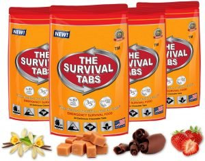 Survival Tabs 8-Day Food Supply 96 Tabs Emergency Food