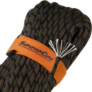 620 LB SurvivorCord | 100 FEET | The Original Patented Type III Military 550 Paracord