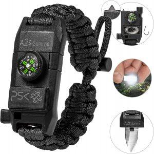 PSK Paracord Knife Bracelet 8-in-1 Personal Survival Kit